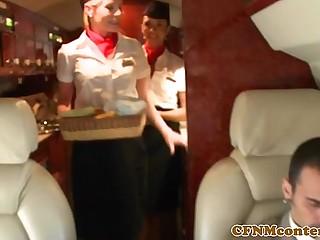 Femdom CFNM stewardesses..