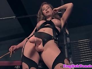 Dominating mistress pissing..