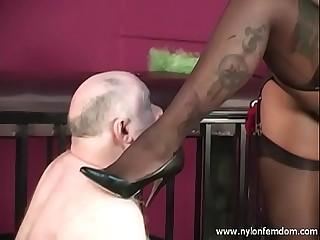 Ebony Nylon Mistress With..