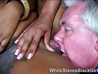 old perv with 2 black..