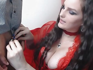 Hot Mistress locking male..