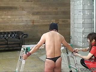 Japanese BDSM Hanging Upside..