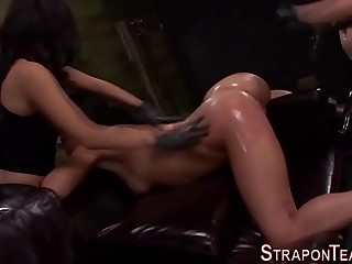Angry mistress strapon