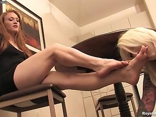 Lesbian foot fetish -..