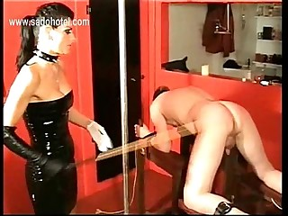 Latex wearing dominatrix..