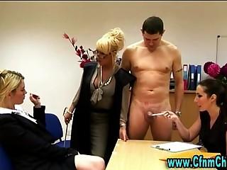 Hot cfnm femdom mistresses