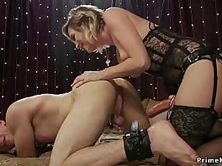 Blonde mistress anal fucks..