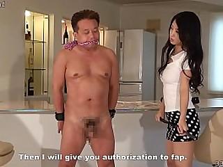 Japanese mistress trains a..