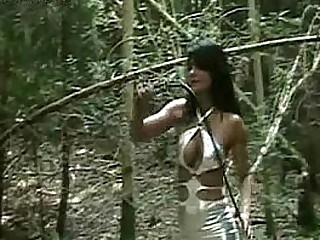 Dirty slave tied to a tree..