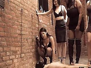 Four femdom mistress pissing..