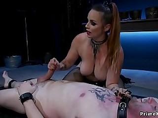 Natural busty mistress gives..