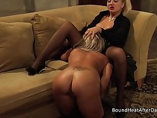 Young Blonde Slave With..