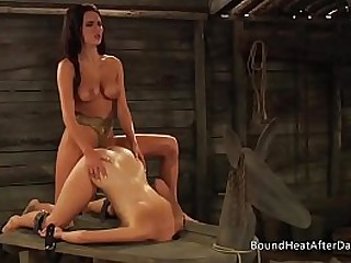 Young Lesbian Slave In..