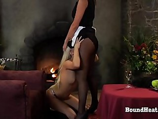 Young Slave Licks Maid And..
