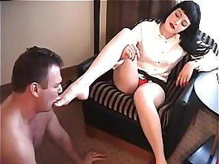 Femdom trample and foot..