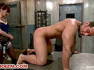 BDSM Femdom Slave Spanked..