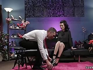 Foot sniffing pervert guy..