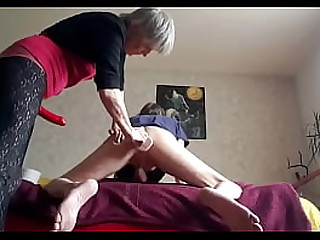 Old Woman Stretches..