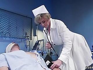 Huge tits blonde Milf nurse..