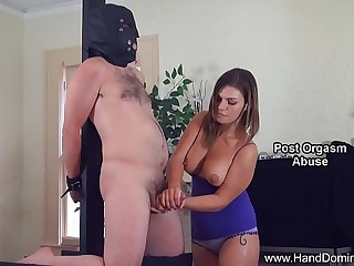 Cheating wife admires hard..