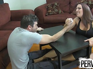 Arm Wrestling Foot Job..