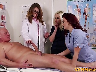 Femdom CFNM doctor sucking..