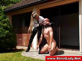 Femdom mistress gets a..