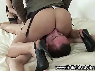 Mature femdoms bondage face..